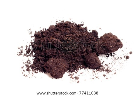 a soil isolated on white