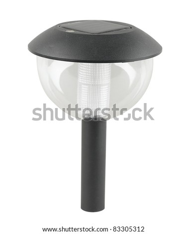 A solar cell ground lamp for the pathway in the garden or park