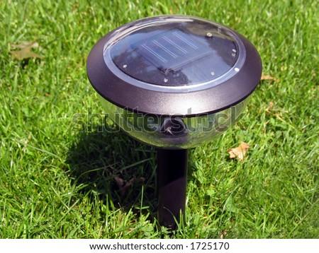 A Solar Powered Garden Lamp