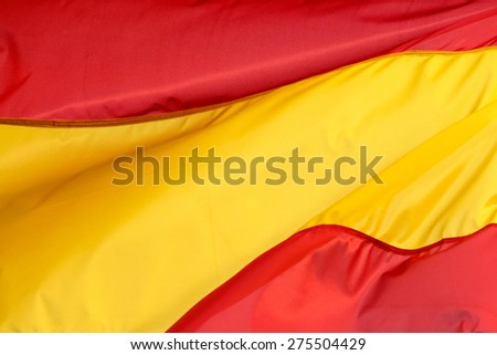 A Spanish flag in the wind