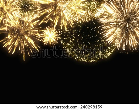 A Spark of black background - Computational graphic - stock photo