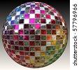 A sparkling glitter ball or disco ball - stock vector