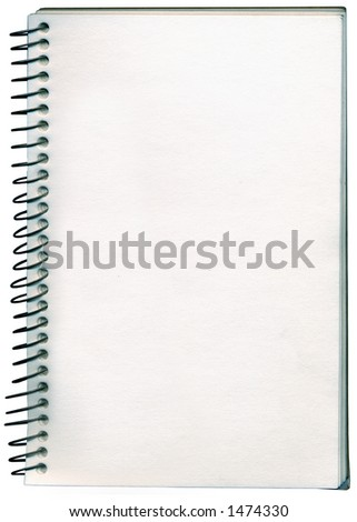 A spiral bound notepade / sketch book. Add your own hand writen note or message.
