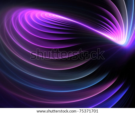 A spiraling fractal design that works great as a background or backdrop. - stock photo