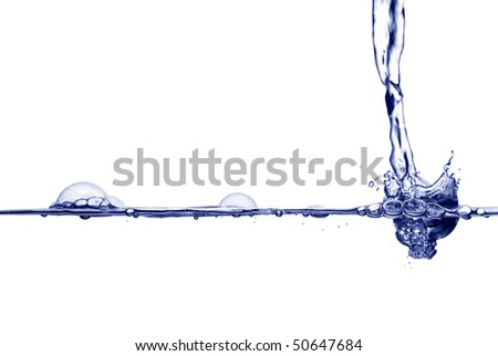 A splash of water. - stock photo