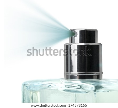 A spray nozzle close-up on white background - stock photo