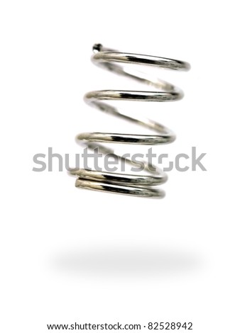 A spring isolated against a white background - stock photo