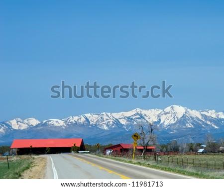 A springtime scene in southwestern Colorado. - stock photo