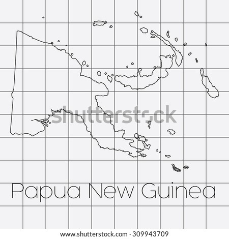 A Squared Background with the country shape of Papua New Guinea