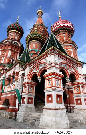 A St. Basil's Cathedral in the Moscow - stock photo