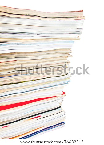 A stack of old magazines