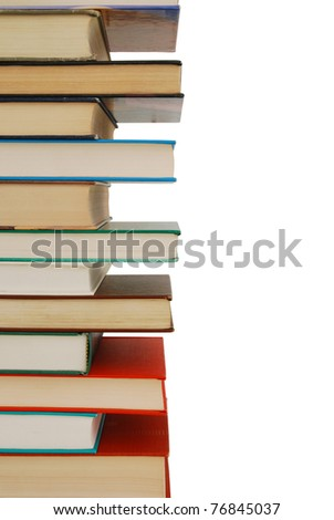 A stacking textbooks background - stock photo