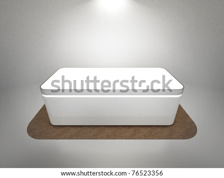 A stage for placing products - stock photo