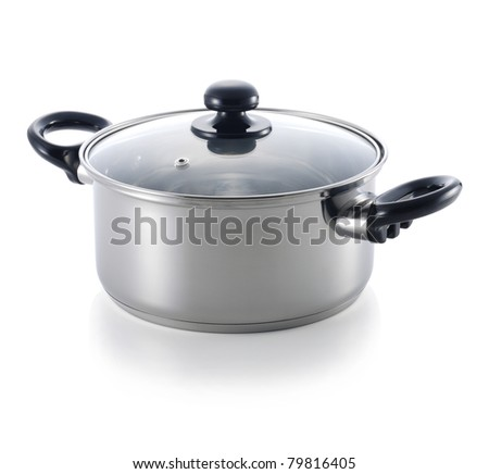 A stainless pot - stock photo