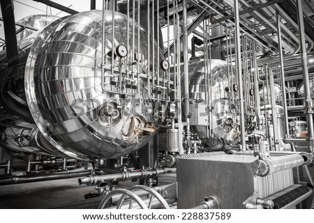 a stainless steel container  - stock photo