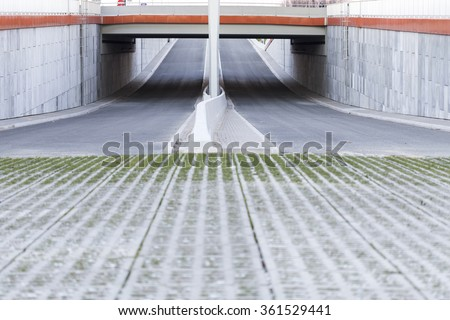 a starter point of a new road - stock photo