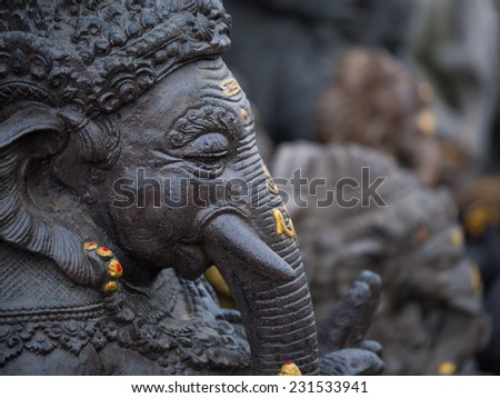 A statue of ganesha in bali, indonesia - stock photo