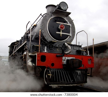 A steam locomotive still in daily use in South Africa