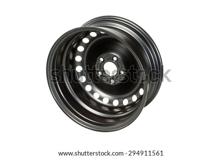 A steel rim from behind - stock photo
