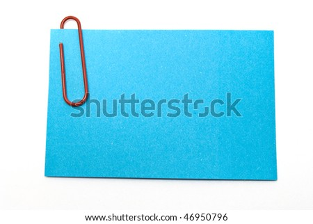 a sticker with paper clips - stock photo