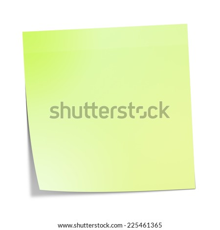 A sticky paper with the message with copy-space for your message