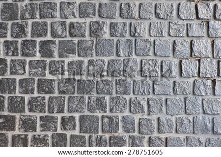 a stone brick pattern background - stock photo