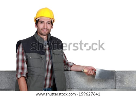 A stonemason - stock photo