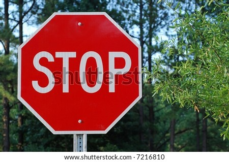 A stop sign - stock photo