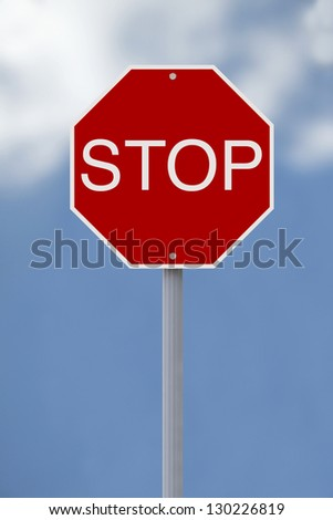 A stop sign against a sky background
