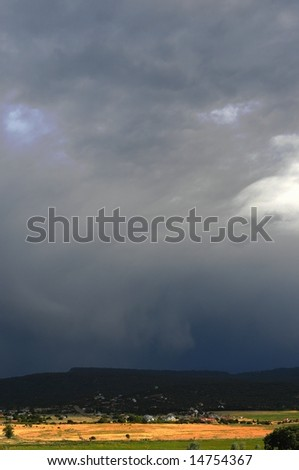 A storm approaching in the high western mountains