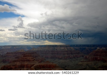 A storm at the Grand Canyon.