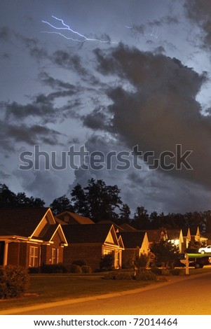 A stormy night in Opelika, Alabama