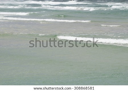 A stormy sea - stock photo