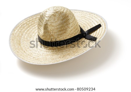 A straw hat - stock photo