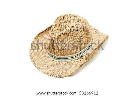 a straw hat isolated on white