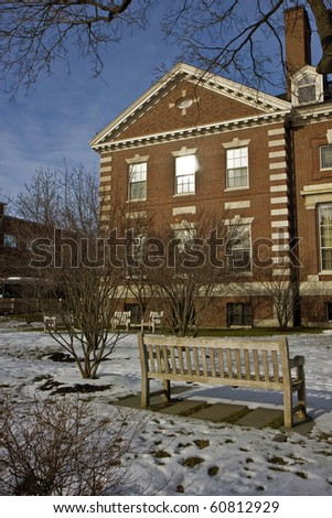 A Street in Cambridge city in Massachusets - stock photo