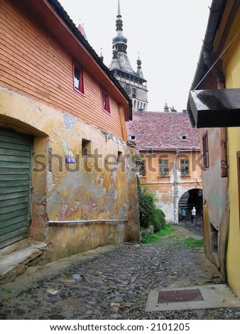 A street in medieval sighisoara