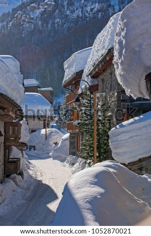 A street in the old village of Val d'Isère