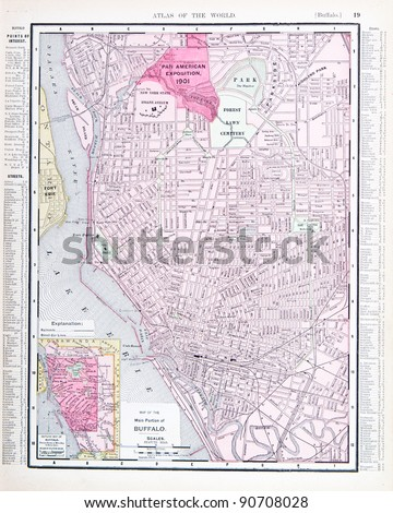 Street Map Buffalo Ny Usa Spoffords Stock Photo - Buffalo ny on us map