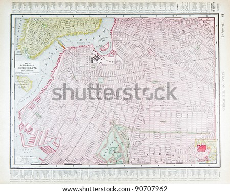 a street map of downtown brooklyn new york city ny usa from spoffords