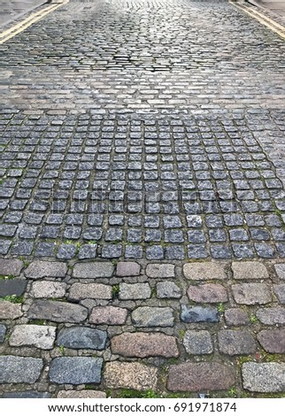 Street paved cobblestone cobblestone road cobblestone for Cobblestone shutters