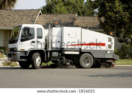 A street sweeper. - stock photo