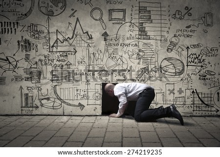 A stressful office - stock photo