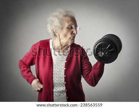 A strong grandma  - stock photo