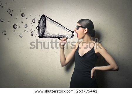 A strong message  - stock photo