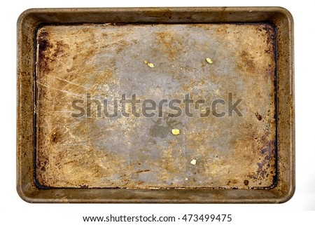 A studio photo of a baking tray