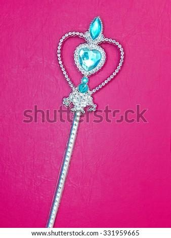 A studio photo of a princess wand - stock photo