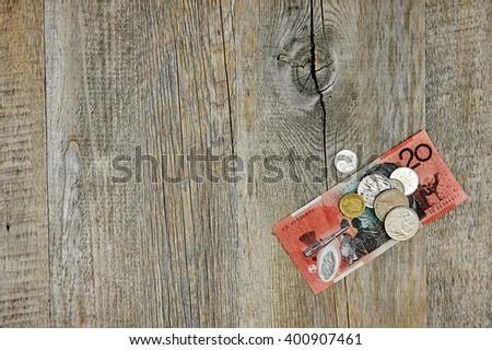 A studio photo of Australian currency - stock photo