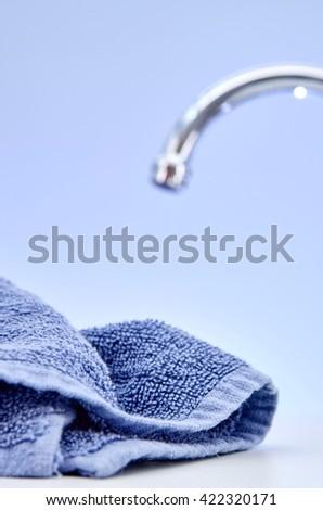 A studio photo of bath towels - stock photo