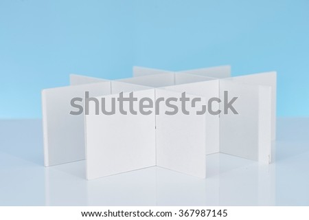 A studio photo of business office partitions - stock photo